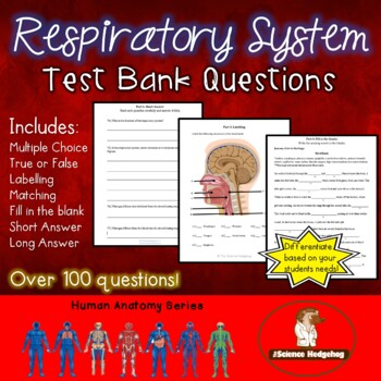 Respiratory System Test Teaching Resources | Teachers Pay Teachers