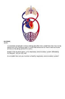 Respiratory and Circulatory System Test