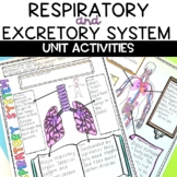 Respiratory and Excretory System Human Body Unit with Activities