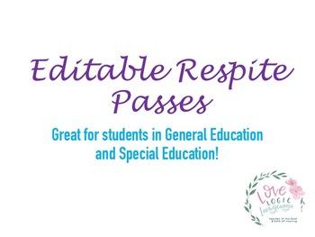 Respite Passes