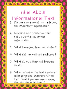 Respond to & Chat About Informational Text
