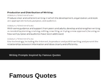 Respond to Famous Quotes Writing Prompts