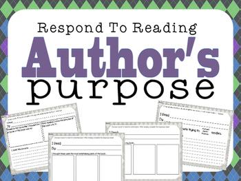 Respond to Reading: Author's Purpose