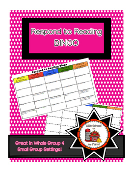 Respond to Reading BINGO