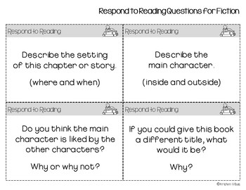 Respond to Reading Discussion Cards