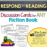 Reading Discussion Card Questions for Any Fiction Book