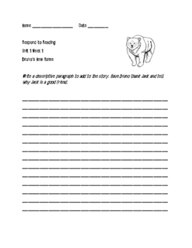 Respond to Reading Wonders 3rd Grade Unit 1