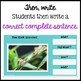 Respond to Pictures REPTILES & AMPHIBIANS Sentence Writing Google Classroom