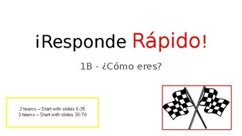 Responde Rapido Vocabulary Game for ¿Cómo eres? Realidades 1B