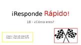 Responde Rapido Vocabulary Game for ¿Cómo eres? Realidades 1B