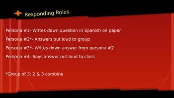 Responding Roles Activity: Prepositions of Location