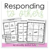 Responding To Others  SOCIAL SKILLS BINGO {Positive & Negative Scenarios}
