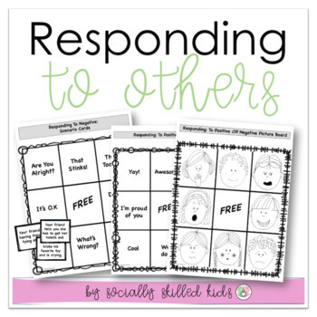 Responding To Others BINGO || Positive & Negative Scenarios