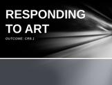 Responding to Art PowerPoint