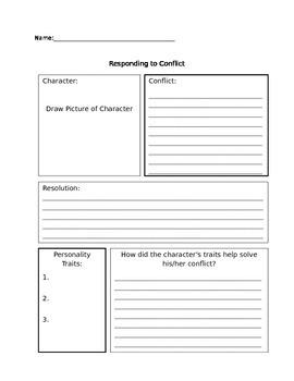 Common Core RL.5.2 - Responding to Conflict