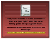 Summarizing Non-Fiction (for informational writing/teachin