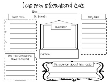 responding to nonfiction an informational text graphic organizer. Black Bedroom Furniture Sets. Home Design Ideas
