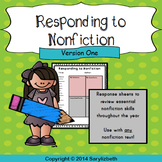 Responding to Nonfiction sheets - Version One