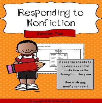 Responding to Nonfiction sheets - Version Two