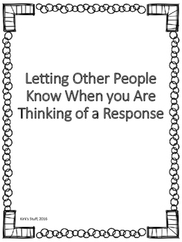 Responding to Others: Thinking of a response