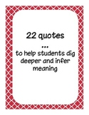 Responding to Quotes in the Classroom - Critical Thinking