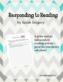 Responding to Reading ELA Sub Plans