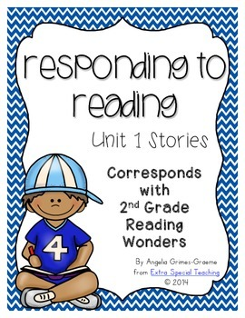 Responding to Reading for Reading Wonders Unit 1 (freebie)