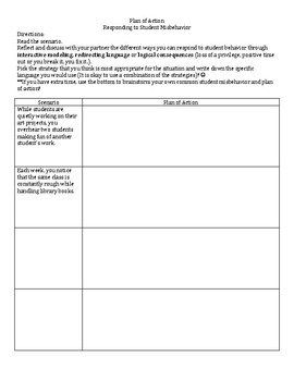 Responding to Student Misbehavior (Teacher Professional Development Activity)