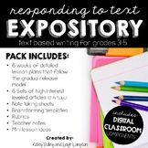 Responding to Text Writing Curriculum: Expository