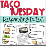 Responding to Text Strategy-Build a Taco