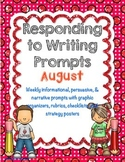 Responding to Weekly Writing Prompts for August