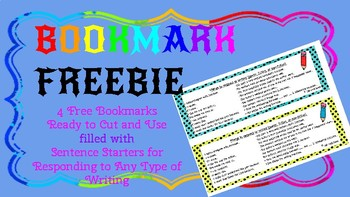 Responding to Writing *FREE BOOKMARKS*
