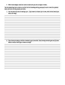 Responding to Writing Prompts: Tips for Student Benchmark Essays