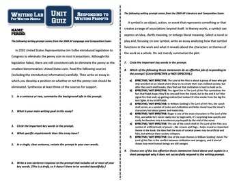 Responding to Writing Prompts - Writing Lab Pre-Writing Module