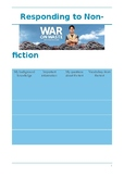 Responding to a Non Fiction Text- War on Waste