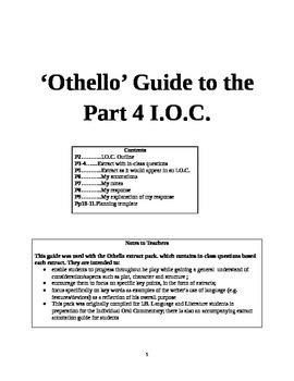 Responding to an 'Othello' Extract
