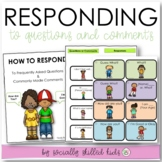 SOCIAL SKILLS Conversation {Responding To Frequently Asked Questions & Comments}