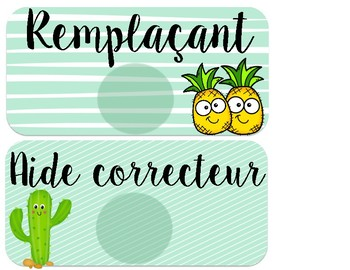 Responsabilités - Cactus/Ananas/Flamants