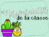 Responsabilités - Cactus et ananas