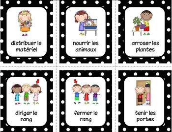 Responsabilités / Classroom jobs