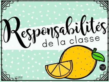 Responsabilités - Thématique Citrons - Modifiable!