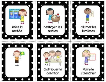 Responsabilités - Version modifiable Classroom jobs - Editable