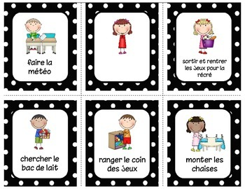 Responsabilités - Version modifiable Classroom jobs - Editable