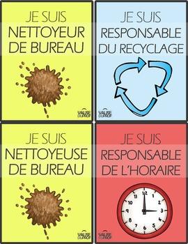 Responsabilités +  billet (nom de l'élève)