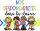 Responsabilités colorées et vibrantes // FRENCH CLASSROOM JOBS