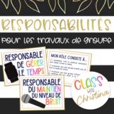 Responsabilités de Groupes: Ensemble de 4 Cartes
