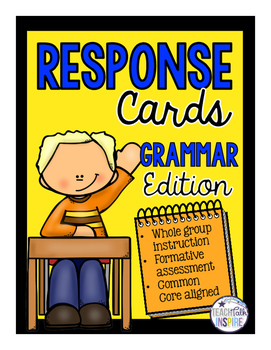Response Cards Grammar Edition