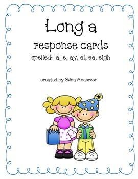 Response Cards-Long a