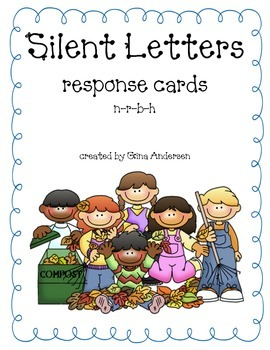 Response Cards-Silent Letters-n,r,b,h