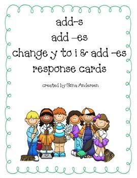 Response Cards-add es, s